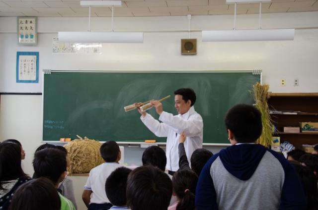 ビン精米(ごはんパワー教室2013)