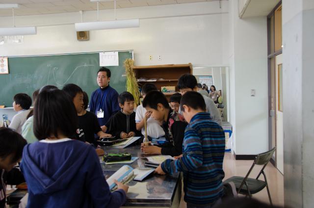 精米リレー(ごはんパワー教室2013)