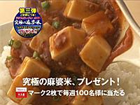 麻婆豆腐の素 第三弾キャンペーン 丸美屋 「究極の麻婆米」プレゼント(テレビCM)
