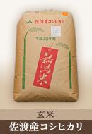 玄米30kg 佐渡産コシヒカリ