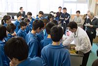 ごはんパワー教室(佐渡市立新穂中学校)