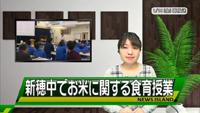 佐渡テレビ「newsアイランド」新穂中学校