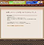 オリジナルエラーページ(金子商店)