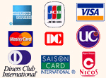 クレジットカード対応表(抜粋)