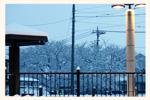 店舗前の風景(雪)